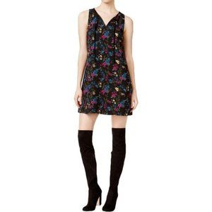 KENSIE Women's Dress Floral-Print Shift Navy NWT M